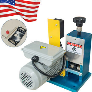 Powered Electric Wire Stripping Copper Stripper Machine Motorized Metal Recycle