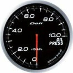 Defi Df10201 Advance Bf Oil Pressure Metric Gauge White 60mm
