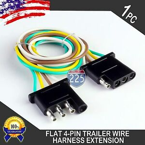 25ft Trailer Light Wiring Harness Extension 4 Pin 18 Awg Flat Wire Connector Us