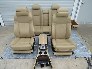 Bmw E66 750li 760li Front Rear Complete Seats Assembly Leather Heated Oem