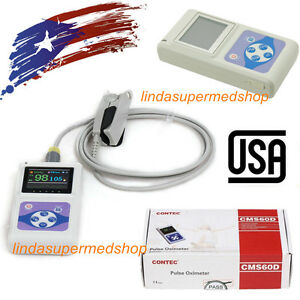 Handheld Pulse Oximeter Blood Oxygen Spo2 Monitor oled Color Display pc Software