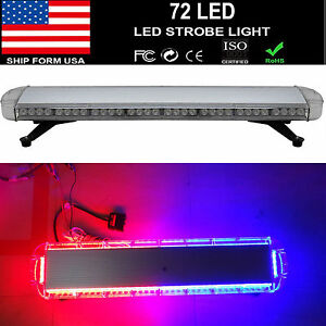 38 72 Led Light Bar Emergency Beacon Warn Tow Truck Plow Response Strobe Us