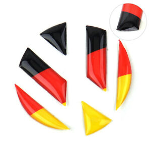 Hot 3d Epoxy German Flag Emblem Badge Steering Wheel Sticker Decal Fit For Vw
