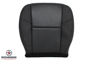 2009 Gmc Yukon Denali Xl driver Side Bottom Perforated Leather Seat Cover Black