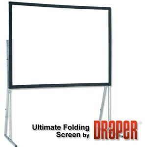Draper 90 Diagonal Ultimate Folding Portable Flexible Matt White 4 3