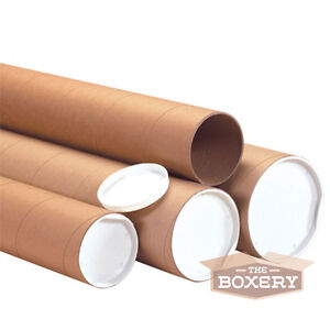 2x26 Kraft Mailing Shipping Packing Tubes 50 cs From The Boxery