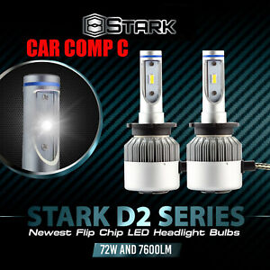 72w 7600lm D2s D2r D2c Led 6000k White Flip Chip Headlight For Hid Xenon X2 f