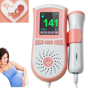 Pocket Portable Fetal Doppler Prenatal Heart Baby Heart Monitor 2mhz Probe Usps