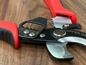 Heavy Duty Cable Cutter Stripper Cuts Up To 1 0 Awg Strips 8 14 Gauge Wire Usa