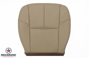 2011 2012 2013 Gmc Sierra Denali 1500 driver Side Bottom Leather Seat Cover Tan