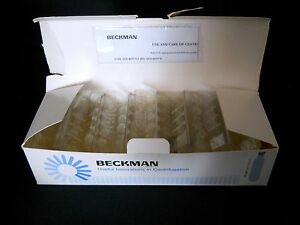 box Of 46 Beckman Spinco Optiseal 4 9ml Centrifuge Tubes Plugs 13 X 48 Mm