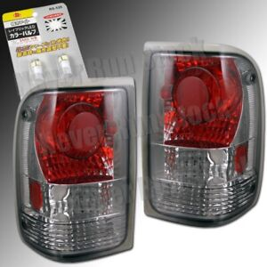 93 97 Ford Ranger Smoke Lens Altezza Tail Lights White License Plate Bulbs