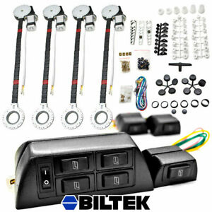 4 Window Roll Up Conversion Power Electric Universal Kit W 7 Swithches Car Auto