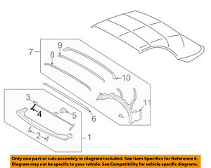 Ford Oem 02 05 Thunderbird Convertible soft Top hook 3w6z76506a48aa