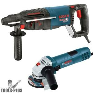 Bosch Tools 11255vsr gws8 1 Sds plus Rotary Hammer 4 5 Angle Grinder New