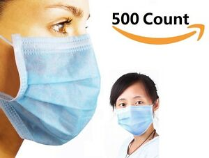 3 ply Commercial Dental Surgical Medical Disposable Earloop Face Masks 500 Pcs