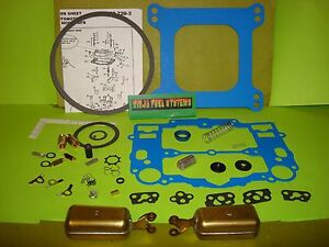 Edelbrock Afb Carburetor Non Stick Rebuild Kit W Floats 1400 1403 1404 1405