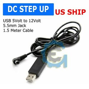 Usb Dc 5v To Dc 12v Step Up Module Converter 2 1x5 5mm Male Connector Plus Mf