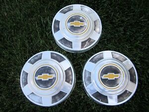 1973 1987 Chevrolet Ck20 Ck30 Truck Van Oem Dog Dish Bow Tie Hub Caps Set Of 3