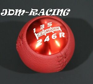 Genuine Leather Red Mugen Shift Knob For Honda Crz Civic Accord S2000 Fa5