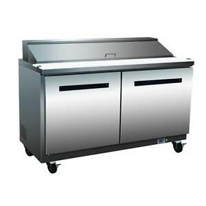 Maxx Cold Mxcr48s 48 Salad And Sandwich Prep Table Two Door Refrigerator Cooler