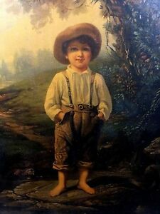 Louis Prang 1868 Whittier S Barefoot Boy Rare 1st Production Beautifully Framed