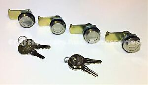 Contractors Truck Cap Folding T handle Lock Cylinder 711cyl Set Of 4 W 4 Keys
