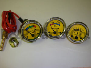 Gauge Set Amp Oil Temperature For Oliver Tractor Super 44 55 66 77 88 440 660