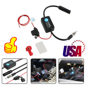 12v New Universal Car Auto Am Fm Stereo Radio Antenna Signal Amplifier Booster