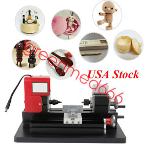 Usa Diy Mini Metal Motorized Lathe Machine Power Tool Model Making Woodworking