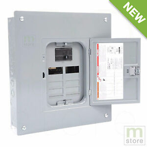Square D 100 Amp Load Center Main Breaker Panel Electrical 16 circuit 8 space