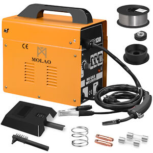 130 Mig Welder Flux Core Automatic Feed Welding Machine Free Welding Helmet