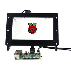 7 Inch 1024x600 Lcd Screen Display For Raspberry Pi Driver Board Case