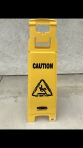 Rubbermaid Caution Wet Floor Sign 4 Sided