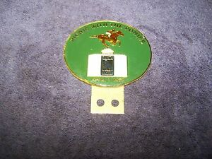 Vintage License Toppers Santa Anita1990 Picnic With The Ponies Porcelain