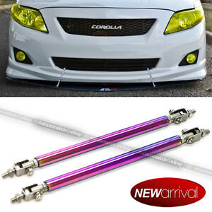Fit Celica 8 11 Bumper Lip Protector Splitter Support Strut Rod Neo Chrome