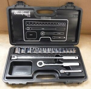 Blackhawk By Proto 1217 Mnb Socket Set 17 Piece Metric 1 2 Drive Rack