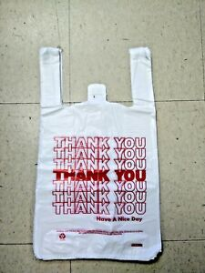 Medium T shirt Thank You Bags 10 x5 x18 Packed 50 100 200 300 500 750 1000 2000