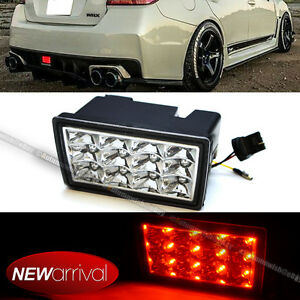 For 11 16 Wrx Sti Xv F1 Style Clear Lens Red Led Flasher 3rd Brake Light Lamp