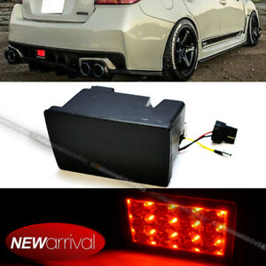 For 11 16 Wrx Sti Xv F1 Style Smoke Lens Red Led Flasher 3rd Brake Light Lamp