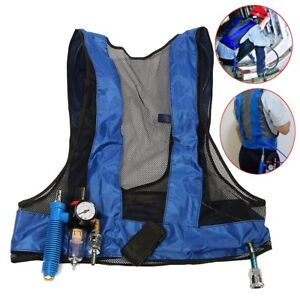 Vortex Tube Air Conditioner Waistcoat Compressed Air Cooling Vest Welding Steel