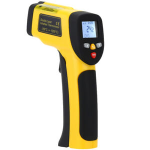 Ht 819 High Precision Digital Double Laser Lcd Non contact Laser Ir Thermometer