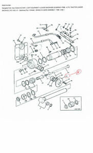 New Holland ford Flange And Bushing Assembly For Tractor Loader Backhoe