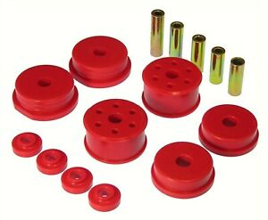 00 05 Mitsubishi Eclipse V6 Polyurethane Motor Mount Inserts Kit Red 13 1903