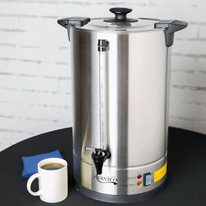 Commercial 110 Cup 3 Gallon Stainless Steel Shop Brewer Coffee Tea Urn Holiday