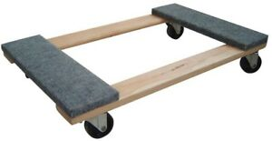 Furniture Moving Dolly 1000 Lb Capacity Swivel Caster Wheels Durable Wood Base