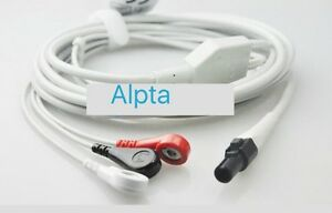 Welch Allyn Propaq Lt 3 Lead Ecg Cable Aha Snap Compatible