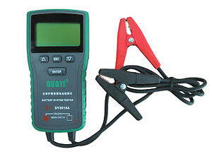 Dy2015a 12v 24v Automotive Car Truck Starting Battery Tester English Spanish