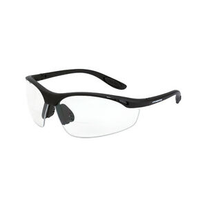 Crossfire Talon Reader Diopter 1 5x Bifocal Clear Lens Safety Glasses 12415