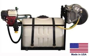 150 Gallon Skid Sprayer Steel 300ft Hose 5 5 Hp 560 Psi 12 5 Gpm Gun